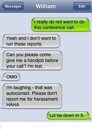 handjob instead of conference funny text