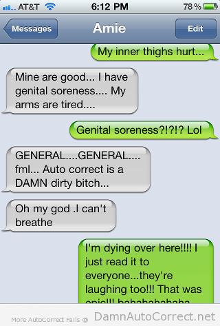 genital soreness